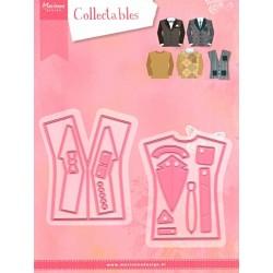 Vyřezávací šablony - Oblečení pro muže (14ks)