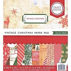 Sada papírů 15x15 Vintage Christmas