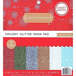 Sada papírů 15x15 Holiday Glitter Solids