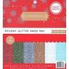 Sada papírů 15x15 Holiday Glitter Solids