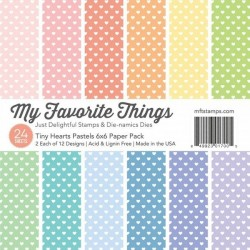 Sada papírů 15x15 Tiny Hearts Pastels (MFT)