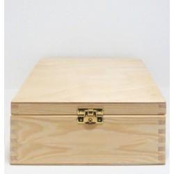 Dřevěná krabička 12x12x7cm se zámečkem