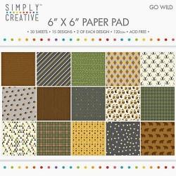 Sada papírů 15x15 Divočina (Simply Creative)