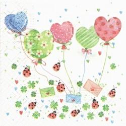 Srdíčkové balónky a berušky 25x25