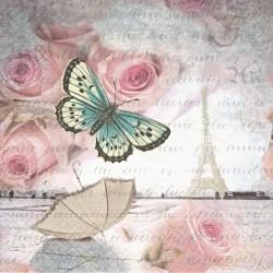 Růže, písmo, deštník 33x33