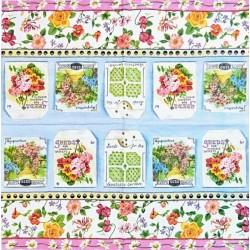 Sáčky se semínky a květinová bordura 33x33