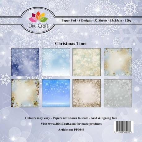 Sada papírů 15x15 Vánoční čas (Dixi Craft)