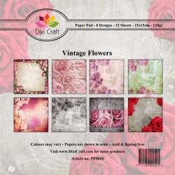 Sada papírů 15x15 Vintage květiny (Dixi Craft)
