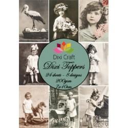 Sada kartiček 7x10cm - Vintage foto 2 (Dixi Craft)