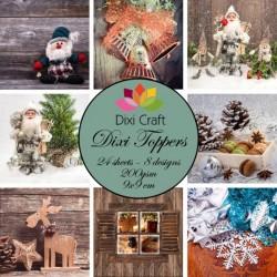 Sada kartiček 9x9cm - Vánoční čas (Dixi Craft)