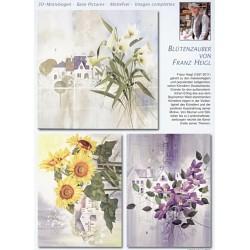Papírové výřezy 3D - Květy, Franz Heigl (2 listy)