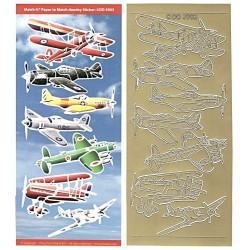 Set kontury a pozadí Letadla zlato