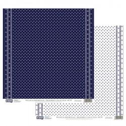 Modrotisk vzor č.05 - 30,5x30,5 scrapbook