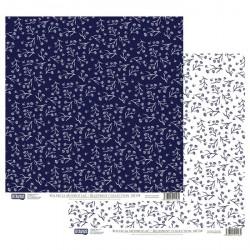 Modrotisk vzor č.04 - 30,5x30,5 scrapbook