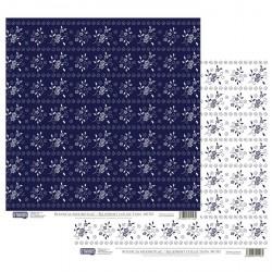 Modrotisk vzor č.02 - 30,5x30,5 scrapbook