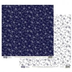 Modrotisk vzor č.01 - 30,5x30,5 scrapbook