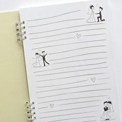 """Základ pro výrobu zápisníku """"Svatba"""", černý tisk"""