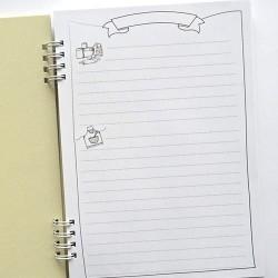 """Základ pro výrobu zápisníku """"Receptář"""", černý tisk"""