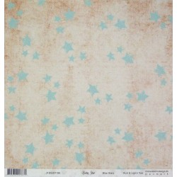 Baby star, Blue Stars 30,5x30,5 scrapbook