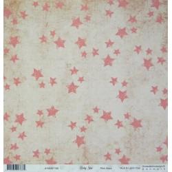 Baby star, Pink Stars 30,5x30,5 scrapbook