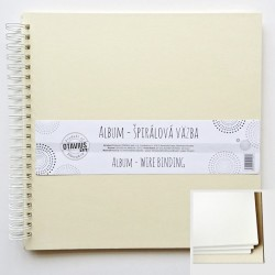 Album se spirálou 30,5x30,5cm/10 listů, krémová barva