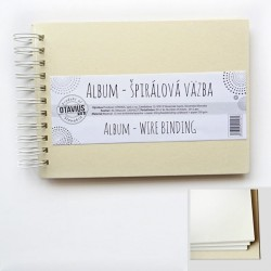 Album se spirálou A5/20 listů, krémová barva