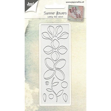 Vyřezávací šablona - letní květiny