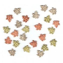 Dřev.dekorace barevné - javorové listy 2cm, 24ks