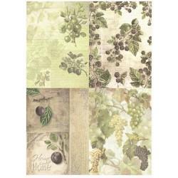 Papír rýžový A4 Ovoce 2, čtyři obrázky