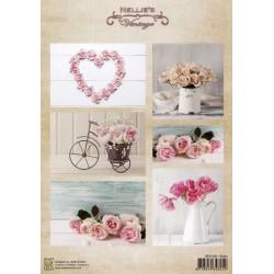 Nellie Vintage A4 - růže