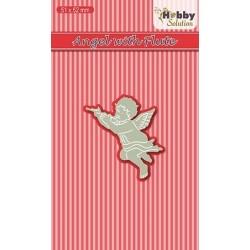 Vyřezávací šablona - anděl s flétnou (Hobby Solution Die)