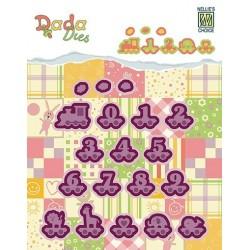 Vyřezávací šablony - vláček, číslice (Dada Dies)