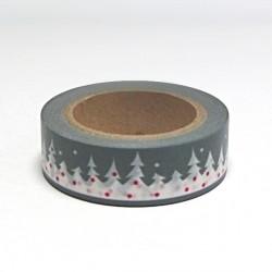 Papírová páska 15mm/10m - vánoční les