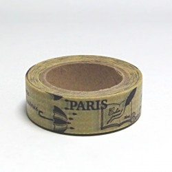 Papírová páska 15mm/10m - Paris, deštník
