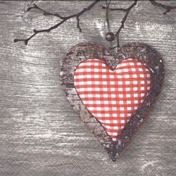 Srdce s okrajem z kůry stromu 33x33