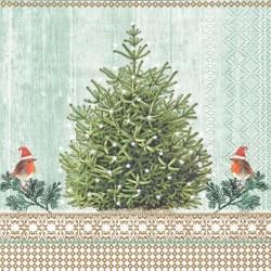 Malé červenky a strom 33x33