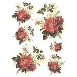 Papír rýžový A4 Červená planá růže