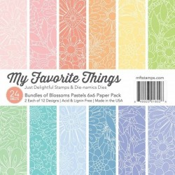 Sada papírů 15x15 Bundles of Blossoms Pastels