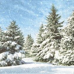 Zasněžené stromy 33x33