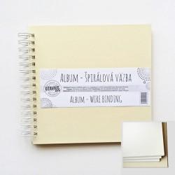 Album se spirálou 20,3x20,3cm/10 listů, krémová barva