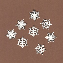Sněhové vločky malé - 8ks chipboards