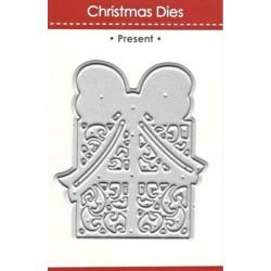 Vyřezávací šablona Vánoční dárek
