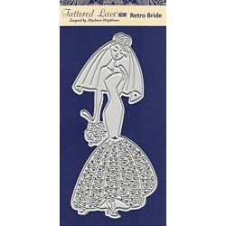 Vyřezávací šablona Tattered Lace - retro nevěsta