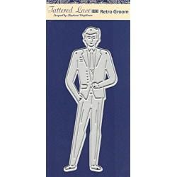 Vyřezávací šablona Tattered Lace - retro ženich