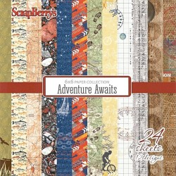 Sada papírů Adventure Awaits 15x15