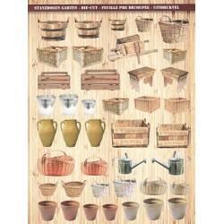 Papírové výseky - Různé nádoby, koše