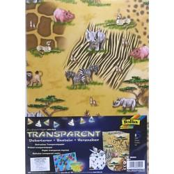 Sada Safari - 5ks transp.papírů (F)