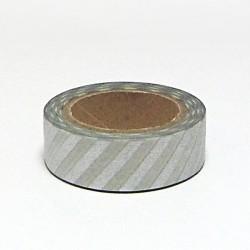 Papírová páska 15mm/10m - stříbrný proužek