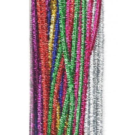 Sada chlupatých drátků 50ks třpytivých, mix barev