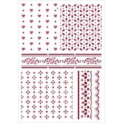 Šablona - Jemné vzory mix